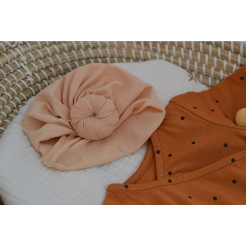 Bonjour Little Bonjour Little | Baby Turban Beanie | Perfect Nude