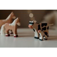 Holztiger | Koe zwart-wit staand