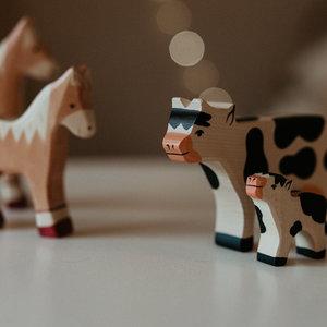 Holztiger Holztiger | Koe zwart-wit staand