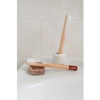 Hydrophil | Bamboe tandenborstel kids roodbruin