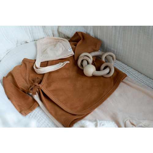 Bonjour Little Bonjour Little | Kimono cardigan Nut | Overslag vestje