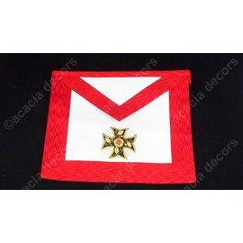 Tablier 18ème degré - brodé main   - Croix ancrée
