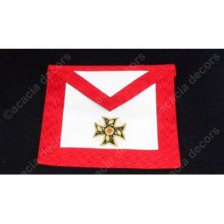 Schürze 18e Grad - Hand bestickt   - Verankertes Kreuz