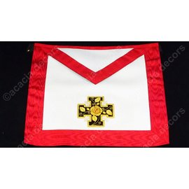 Apron18th degree - hand embroided  - potted cross