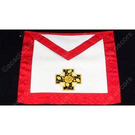 Schootsvel 18e graad vol hand geborduurd   - gepotenceerd kruis