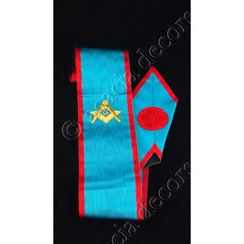 Sash with compass and G Hand embroided