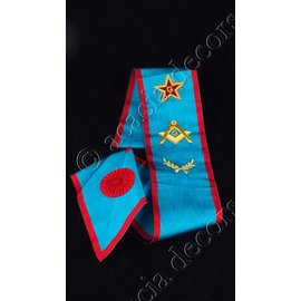 Sash with compass, G and Acacia