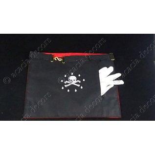 Tablier de Maître - faux cuir - 3 cocardes