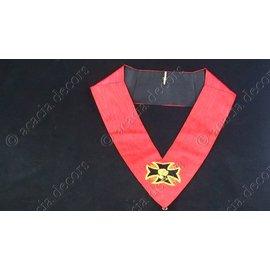 Kraagband 18e graad simpel hand geborduurd  - geankerd kruis