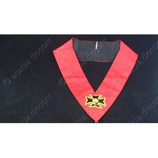 Sautoir 18ème degré - brodé main    Croix ancrée simple