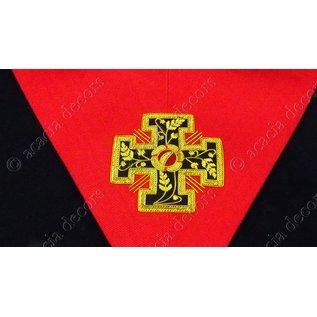 Kraagband 18e graad geborduurd  gepotenceerd kruis