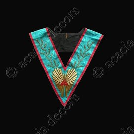 Collar Worshipful Master Hand emrboided 224 leaves