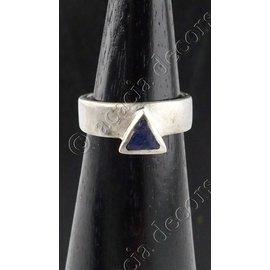 Ring zilver met blauw steen