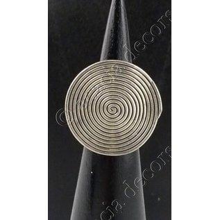 Ring zilver met cirkel