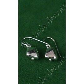 Oorbellen hanger met zilver steen