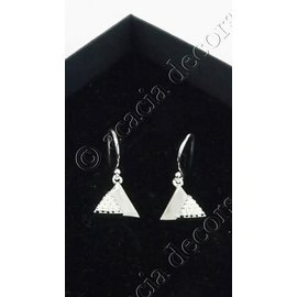 Boucles d'oreilles pendantes avec 2 triangles