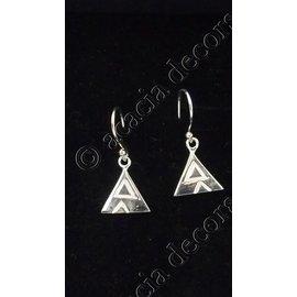 Boucles d'oreilles pendantes avec motif 2 triangles