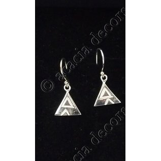 Earrings pendant with 2 triangles motive