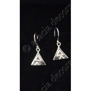 Oorbellen hanger met  driehoekmotief
