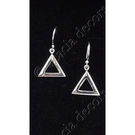 Earrings pendant open triangle