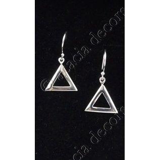Boucles d'oreilles pendantes triangle ouvert
