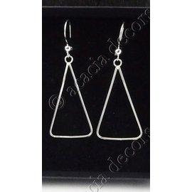 Earrings pendant large open triangle