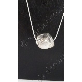 Pendant with chain  with silver rough stone