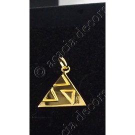 Hanger zonder ketting met driehoek motief erin