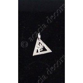 Hanger met ketting driehoek met acacia