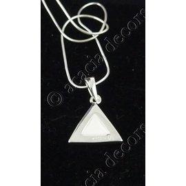 Hanger met ketting driehoek parelmoer steentje