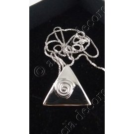 Hanger met ketting driehoek roosje