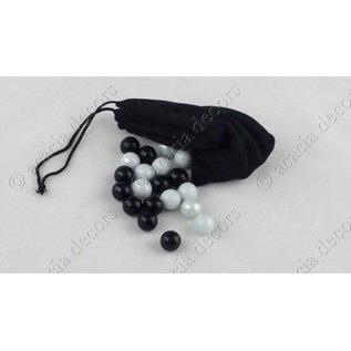 Ballotagekugeln 10 Weisse + 10 Schwarze