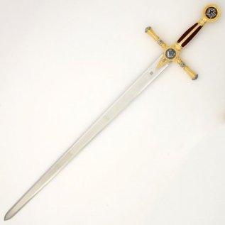 Épée à poignée rouge avec gravures SOLO DISPONIBLE BENELUX Y NORTE DE FRANCIA Y PARIS