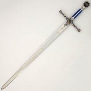Épée à poignée bleue avec gravures UNIQUEMENT POUR BENELUX ET FRANCE DU NORD - PARIS