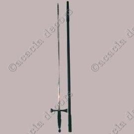 Épée fine avec manche noir avec manche en plastique