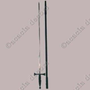 Fijn zwaard met zwart handvat met plastiek huls