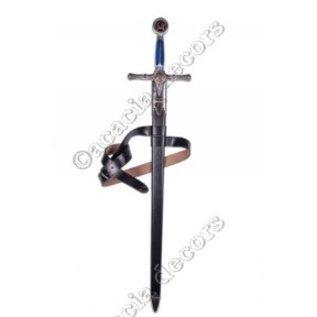 Fourreau en cuir avec ceinture (sans épée)