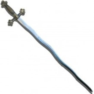 Flammendes Schwert simpel