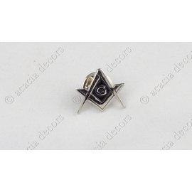 Pin  passer G zilver Zwarte achtergrond
