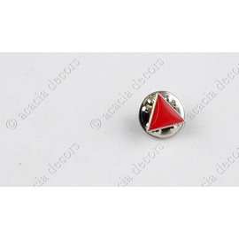 Pin  triangle rouge