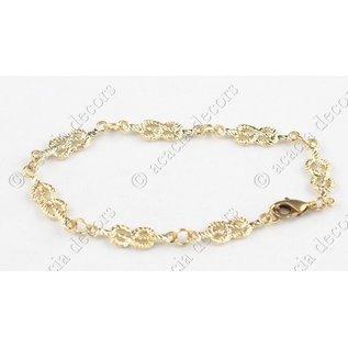 Armband broederketen goud