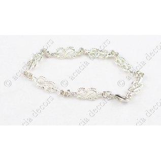 Bracelet chaîne d'union argenté