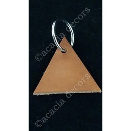 Keychain triangle leather