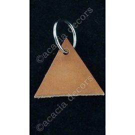Porte-clés triangle en cuir