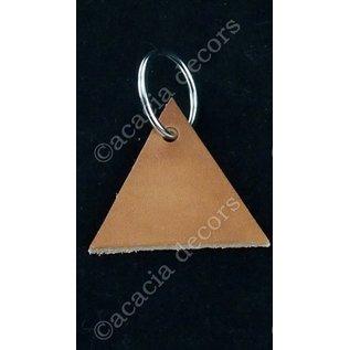 Keychain triangle leather