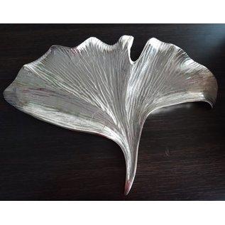 Obstschale Ginkoblatt Mittel Silber