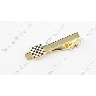 Tie pin checkerboard