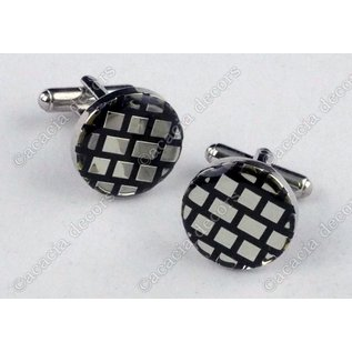 checkerboard  cufflinks round