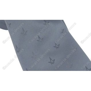 Cravate noire avec boussole et motif carré