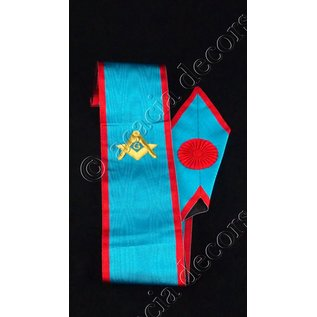 Sash with compass Hand embroided